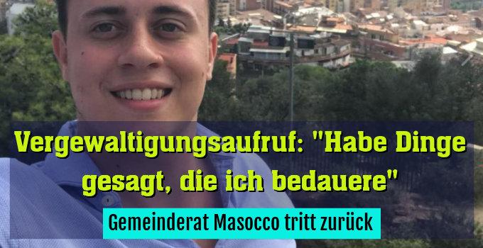 Gemeinderat Masocco tritt zurück