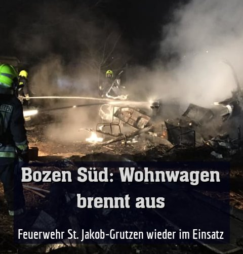 Feuerwehr St. Jakob-Grutzen wieder im Einsatz