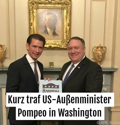 Erster Programmpunkt war ein Abendessen mit Außenminister Pompeo