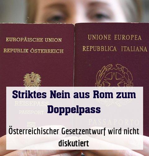 Österreichischer Gesetzentwurf wird nicht diskutiert