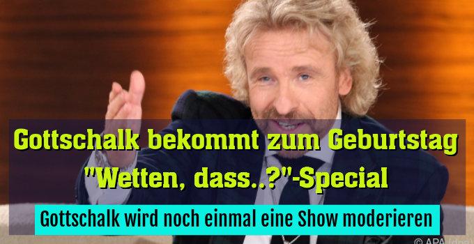 Gottschalk wird noch einmal eine Show moderieren