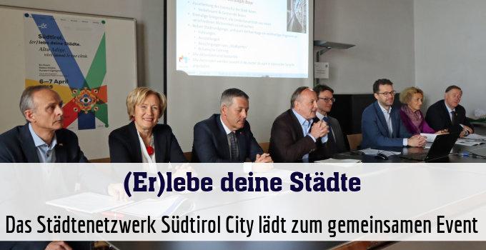 Das Städtenetzwerk Südtirol City lädt zum gemeinsamen Event
