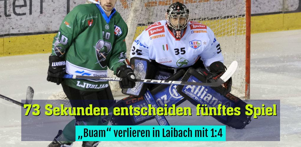 """""""Buam"""" verlieren in Laibach mit 1:4"""
