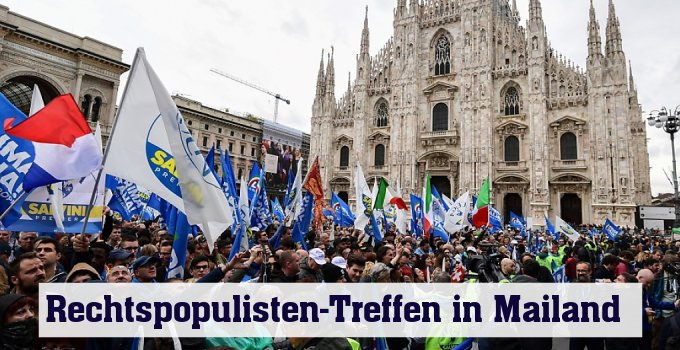 Rechtspopulisten-Treffen in Mailand