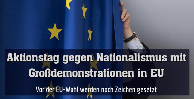 """Das Bündnis """"Ein Europa für alle"""" rief zu den Protesten auf"""