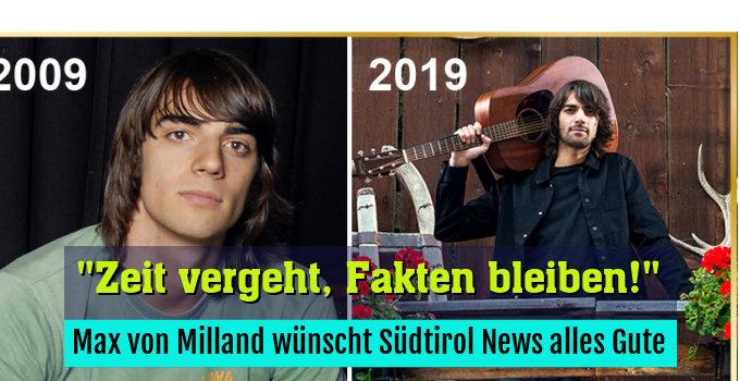 Max von Milland wünscht Südtirol News alles Gute