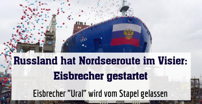 """Eisbrecher """"Ural"""" wird vom Stapel gelassen"""