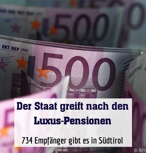 734 Empfänger gibt es in Südtirol