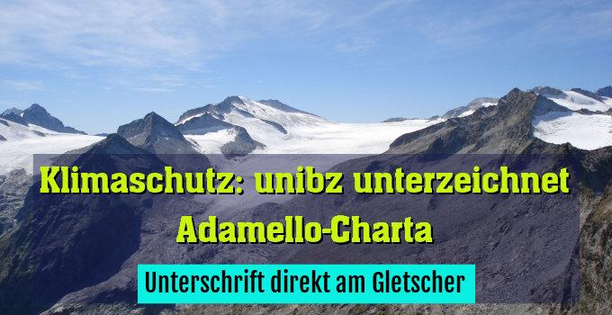 Unterschrift direkt am Gletscher