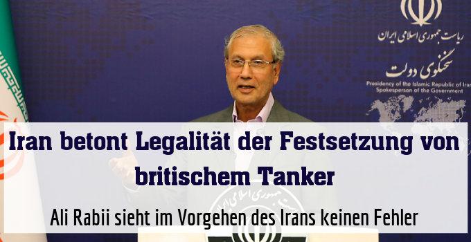 Ali Rabii sieht im Vorgehen des Irans keinen Fehler