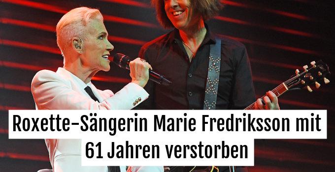 Marie Fredriksson wird unvergesslich bleiben