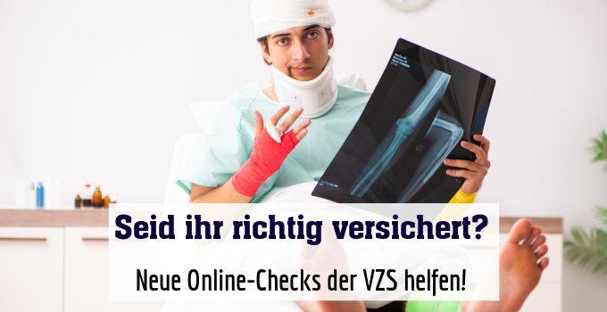 Neue Online-Checks der VZS helfen!
