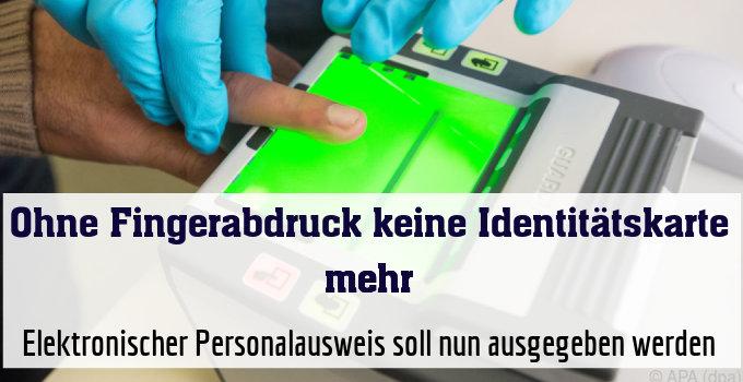 Elektronischer Personalausweis soll nun ausgegeben werden