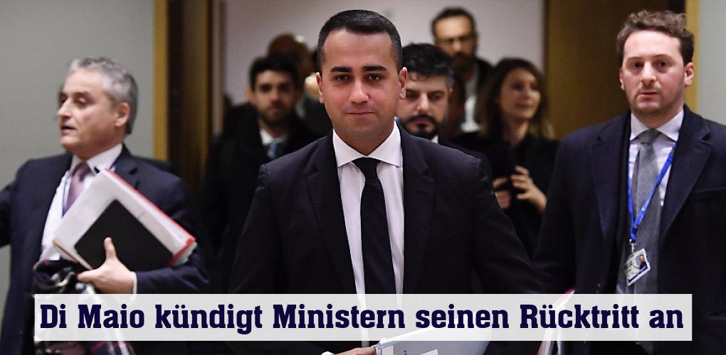 Unklarheit über Außenminister DiMaios politische Pläne