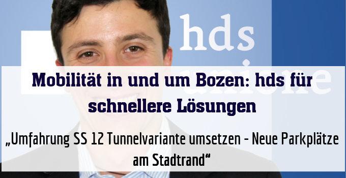 """""""Umfahrung SS 12 Tunnelvariante umsetzen - Neue Parkplätze am Stadtrand"""""""