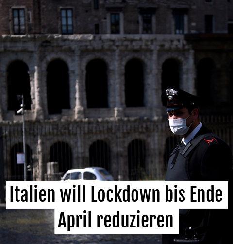 Einige Maßnahmen sollen in Italien gelockert werden