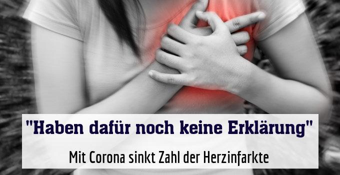 Mit Corona sinkt Zahl der Herzinfarkte