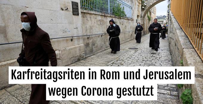 Vier Franziskaner gingen den Leidensweg Jesu nach