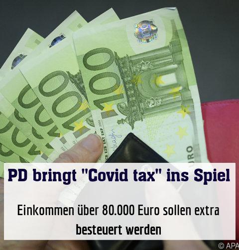 Einkommen über 80.000 Euro sollen extra besteuert werden