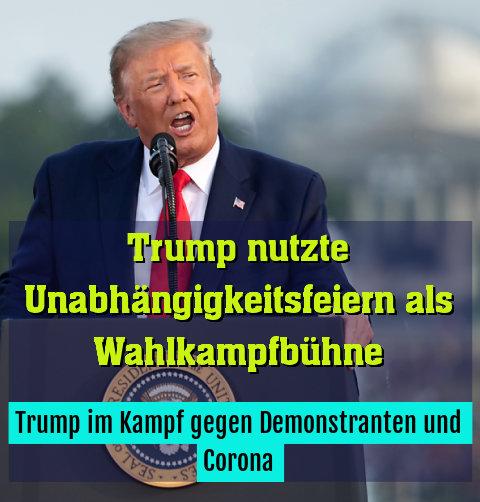 Trump im Kampf gegen Demonstranten und Corona