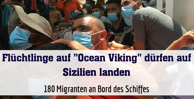 180 Migranten an Bord des Schiffes