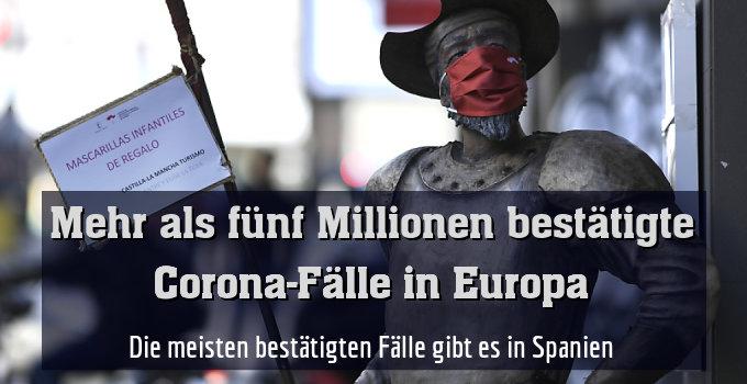 Die meisten bestätigten Fälle gibt es in Spanien