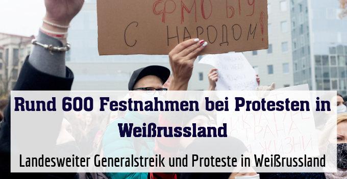 Landesweiter Generalstreik und Proteste in Weißrussland