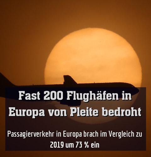 Passagierverkehr in Europa brach im Vergleich zu 2019 um 73 % ein