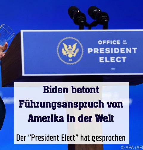 """Der """"President Elect"""" hat gesprochen"""