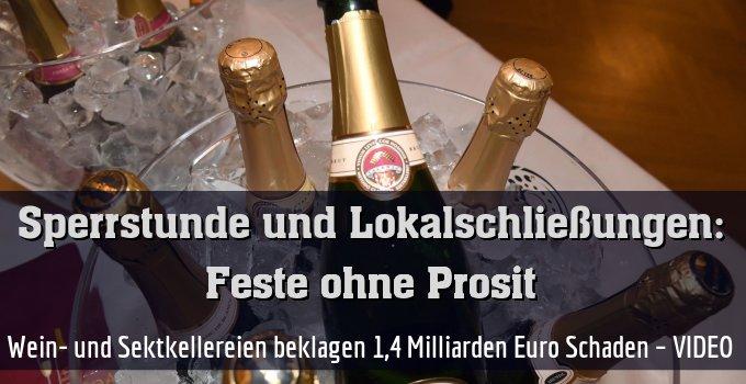 Wein- und Sektkellereien beklagen 1,4 Milliarden Euro Schaden – VIDEO