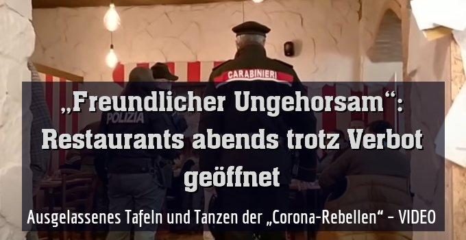 """Ausgelassenes Tafeln und Tanzen der """"Corona-Rebellen"""" – VIDEO"""