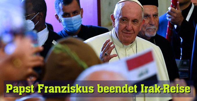 Papst kehrt nach Rom zurück