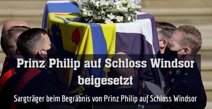 Sargträger beim Begräbnis von Prinz Philip auf Schloss Windsor