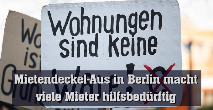 Hohe Mieten in Deutschland: Plakat bei Demonstration in Hamburg