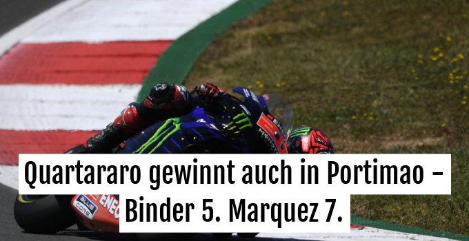 Fabio Quartararo auf seinem Weg zum MotoGP-Sieg in Portimao.