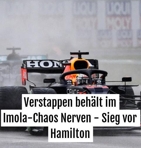 Verstappen zeigte Hamilton bei wechselnden Bedingungen den Auspuff