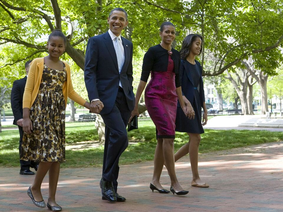 Barak Obama and Family attend easter services in Washington, D.C, America - 08 Apr 2012