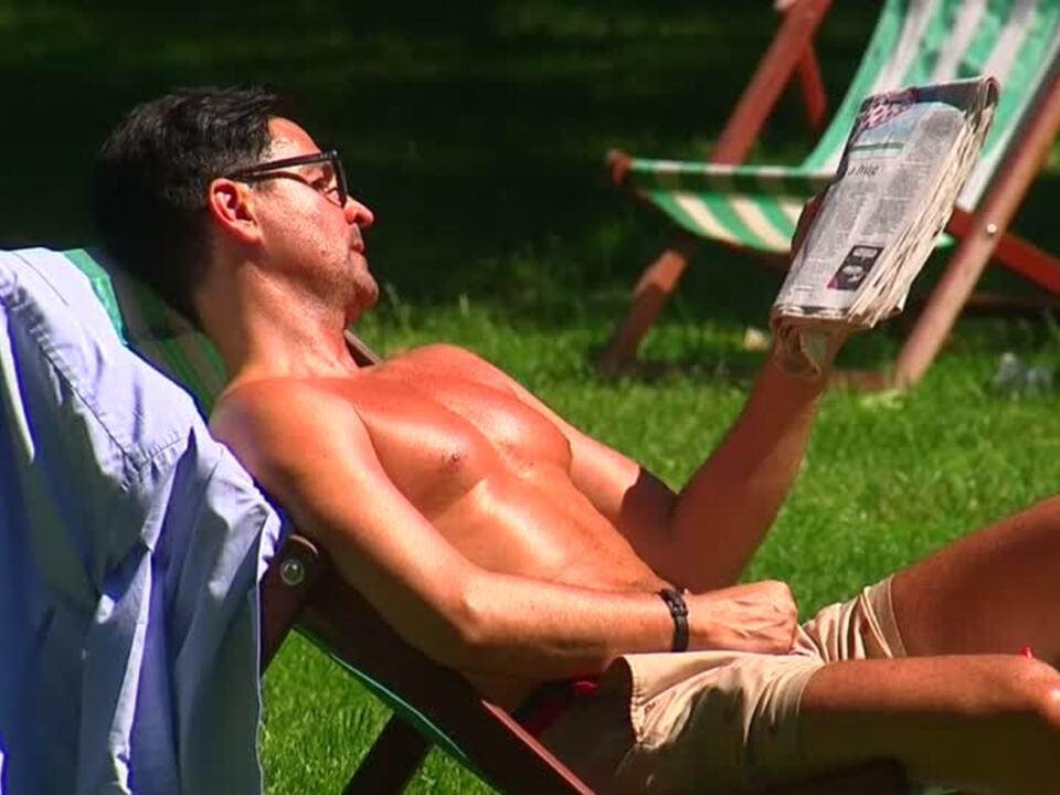 Briten brüten in der Hitze
