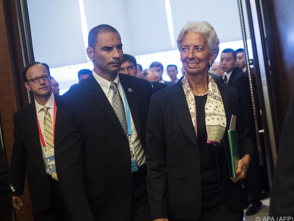 Christine Lagarde bei G-20-Treffen in Chengdu