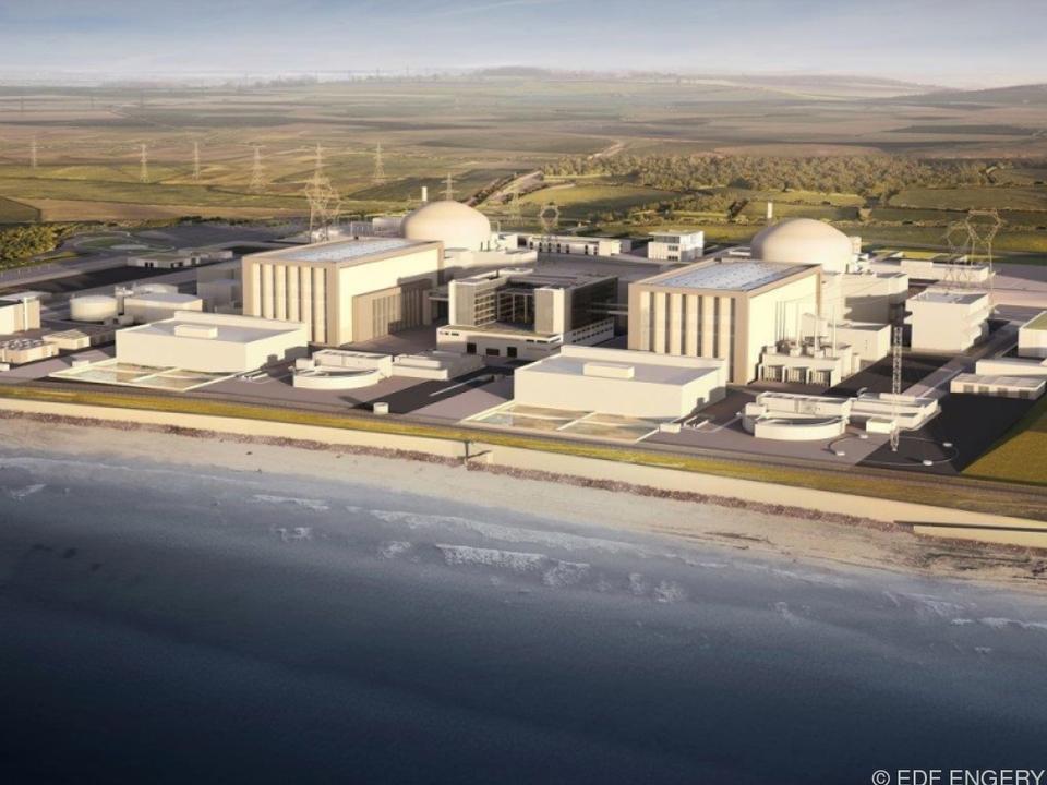 Computergrafik der geplanten Reaktoren im AKW Hinkley Point