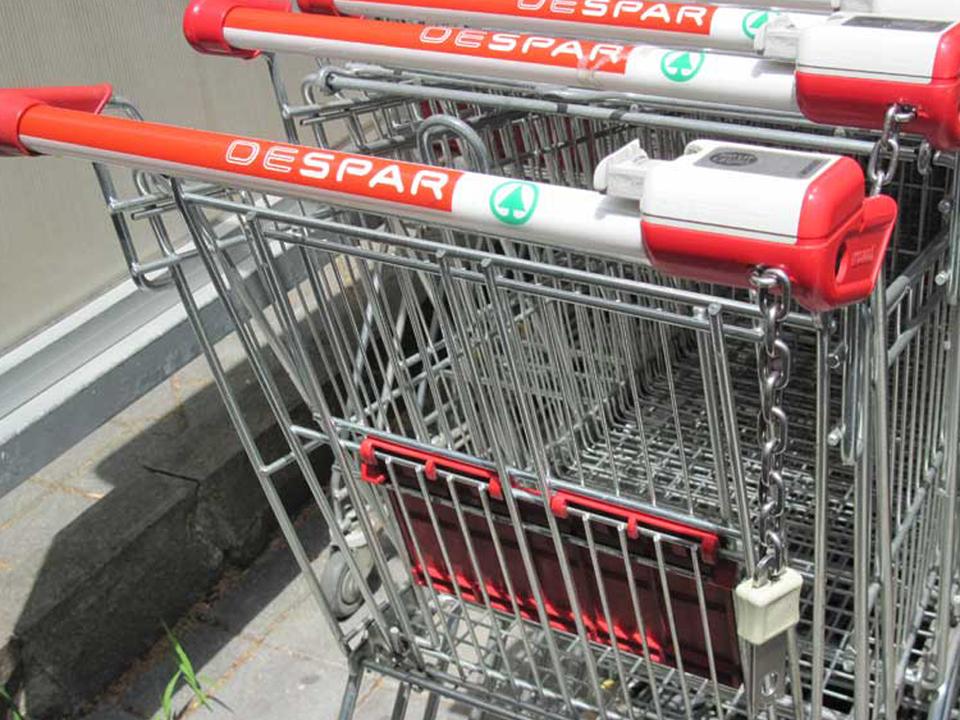 despar spar Einkaufwagen Aspiag