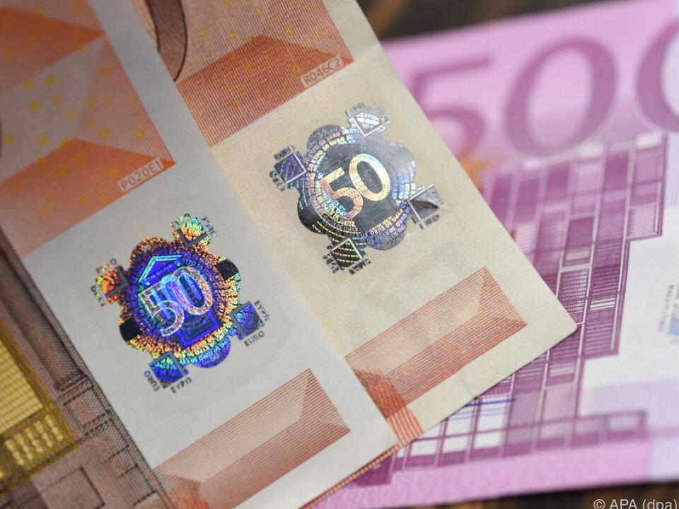 Die 50-Euro-Banknote wird am häufigsten gefälscht