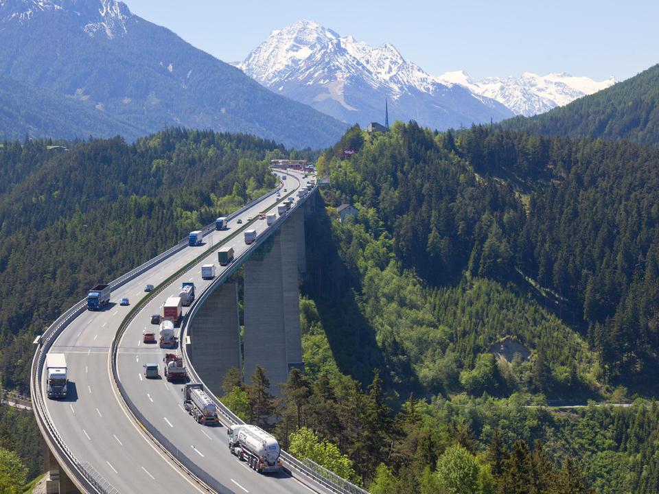 Die Europabrücke der Brennerautobahn