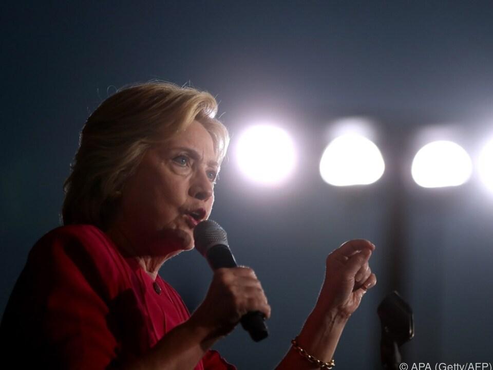 Gute Umfragwerte für Hillary Clinton