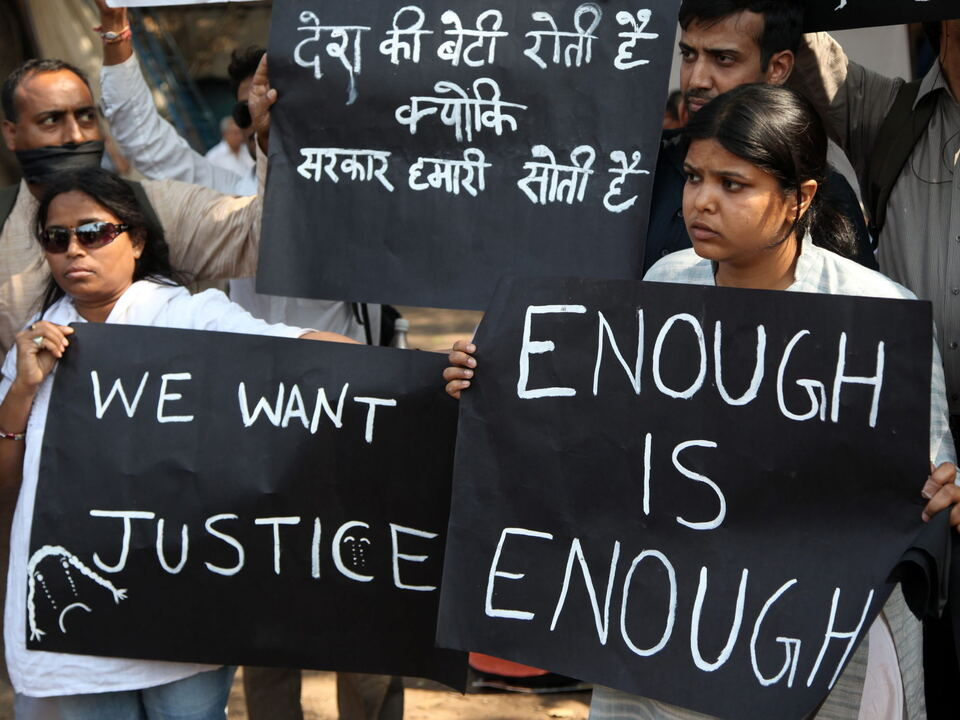 INDIA GANG RAPE VICTIM RALLY indien vergewaltigung