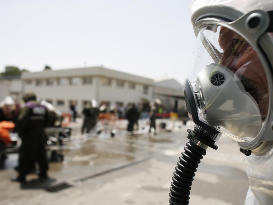 israel gasmaske anschlag chemisch chemie