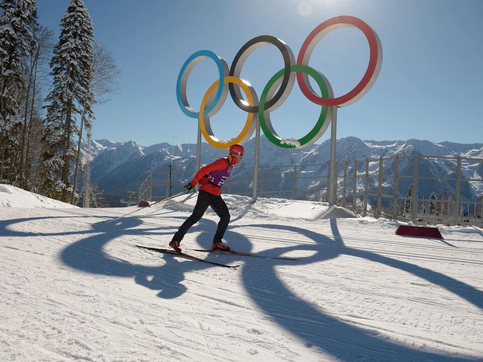 Olympia Ringe OLYMPISCHE WINTERSPIELE SOTSCHI 2014: THEMENBILD LANGLAUF