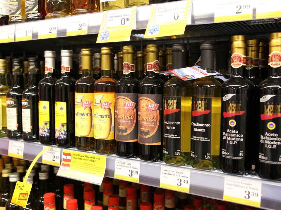 supermarkt essig einkauf