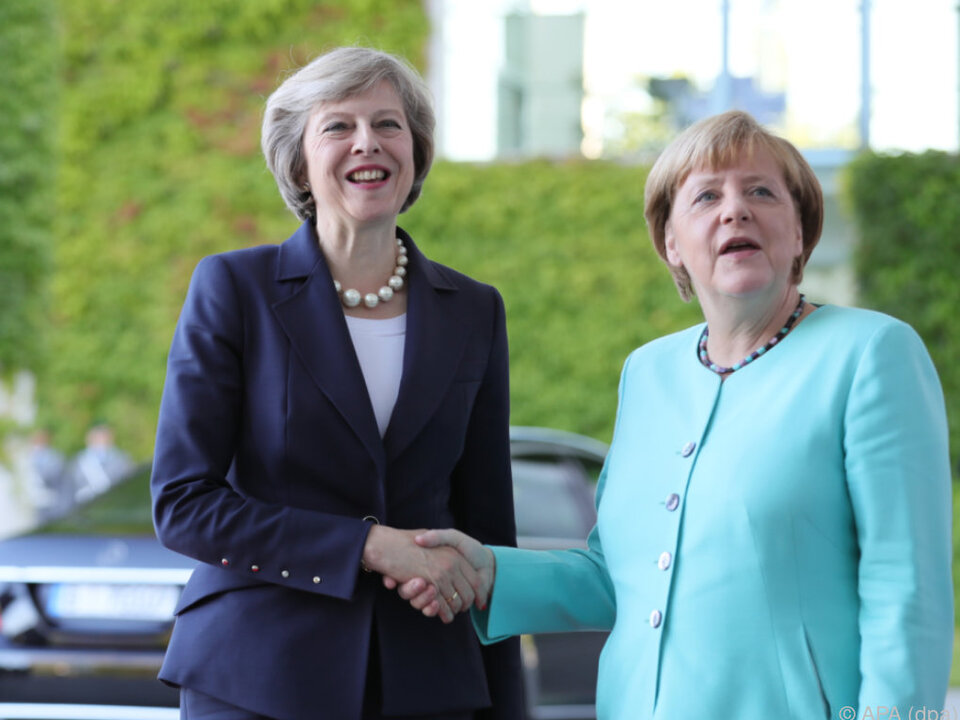 Theresa May auf Besuch in Berlin