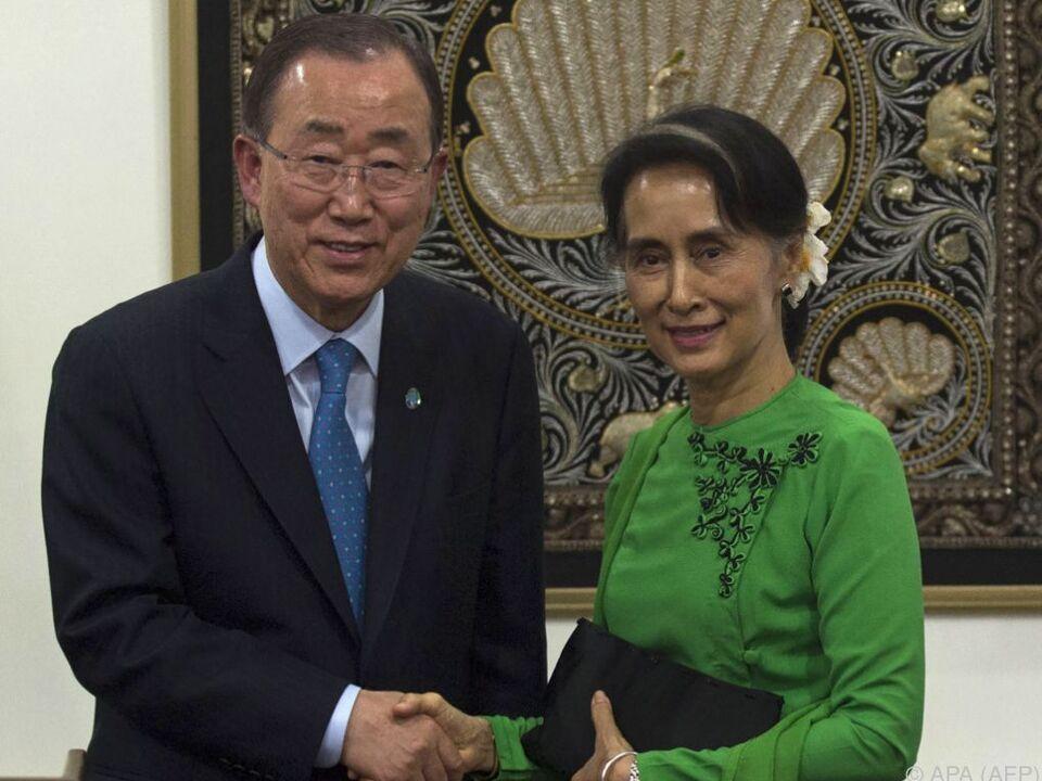Auch UN-Generalsekretär Ban kam nach Myanmar